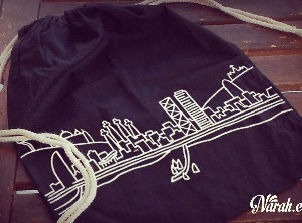 mochila tela negra barcelona draw zoom