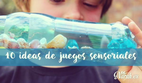 10 ideas de juegos sensoriales con materiales cotidianos