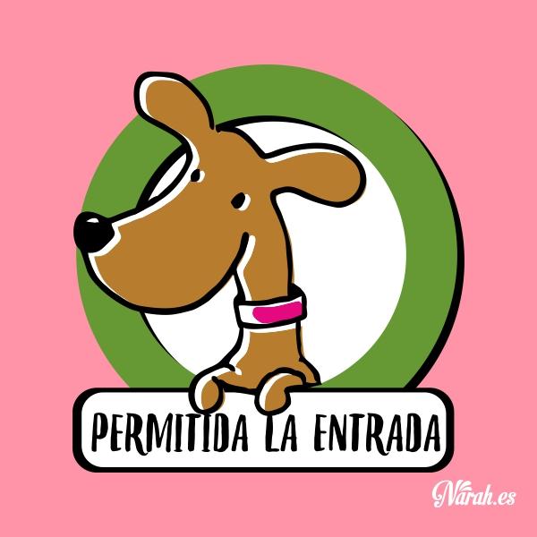 adhesivo permitida la entrada de animales narah castellano