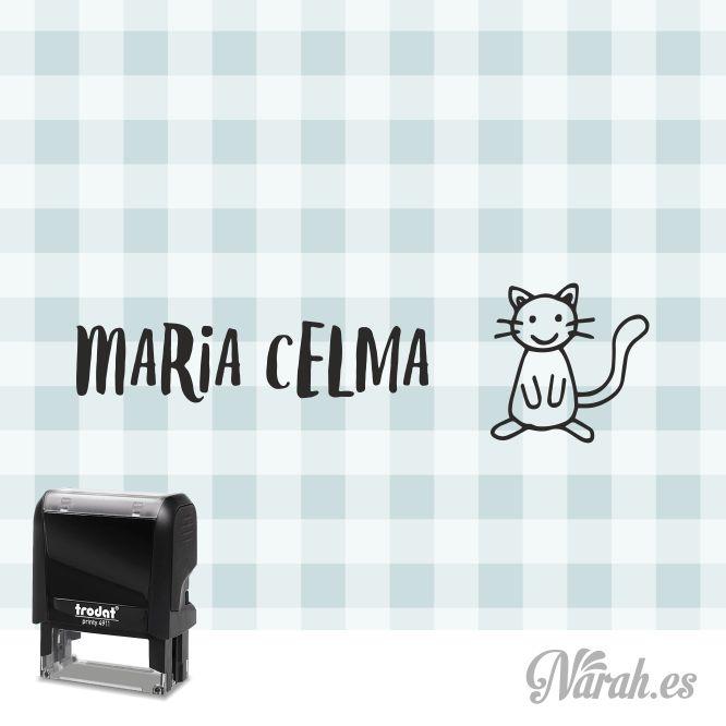 sello para ropa gato