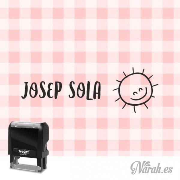 sello para ropa sol