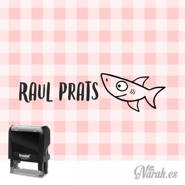 sello para ropa tiburón