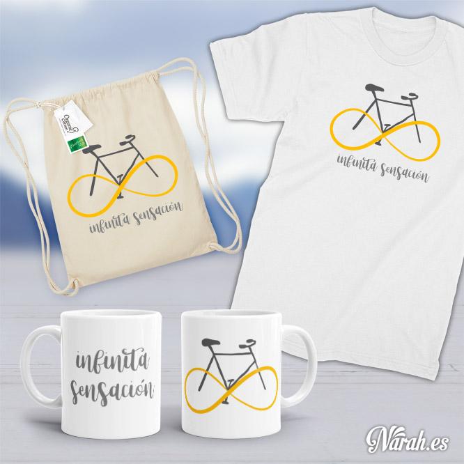 pack ciclista infinita sensación