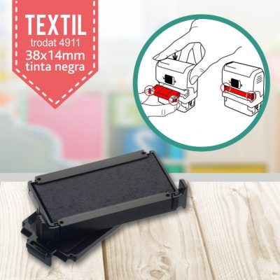 recambio tinta sello ropa trodat 4911