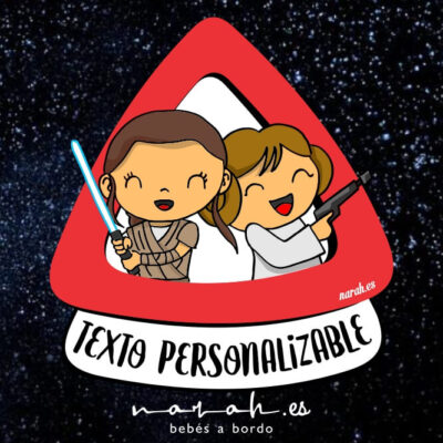 Rey y Leia a bordo star wars
